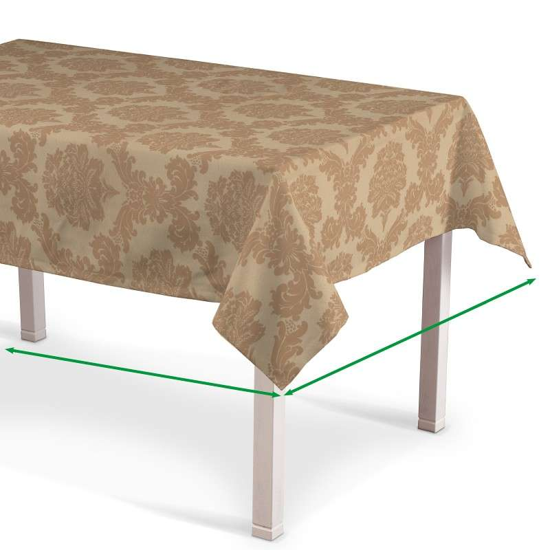 Rectangular tablecloth in collection Damasco, fabric: 613-04