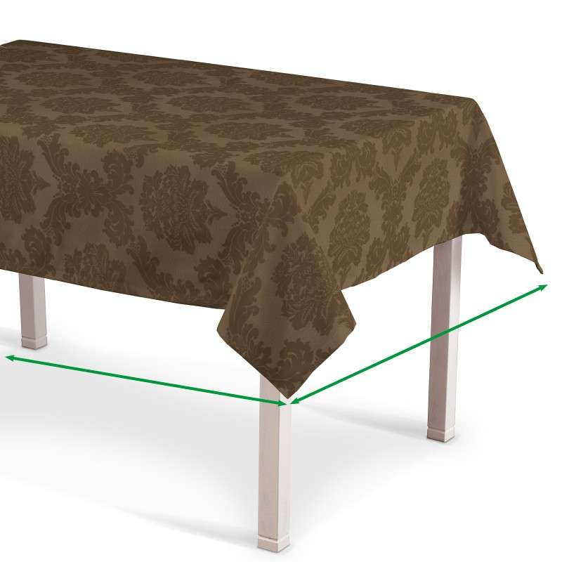 Rectangular tablecloth in collection Damasco, fabric: 613-88