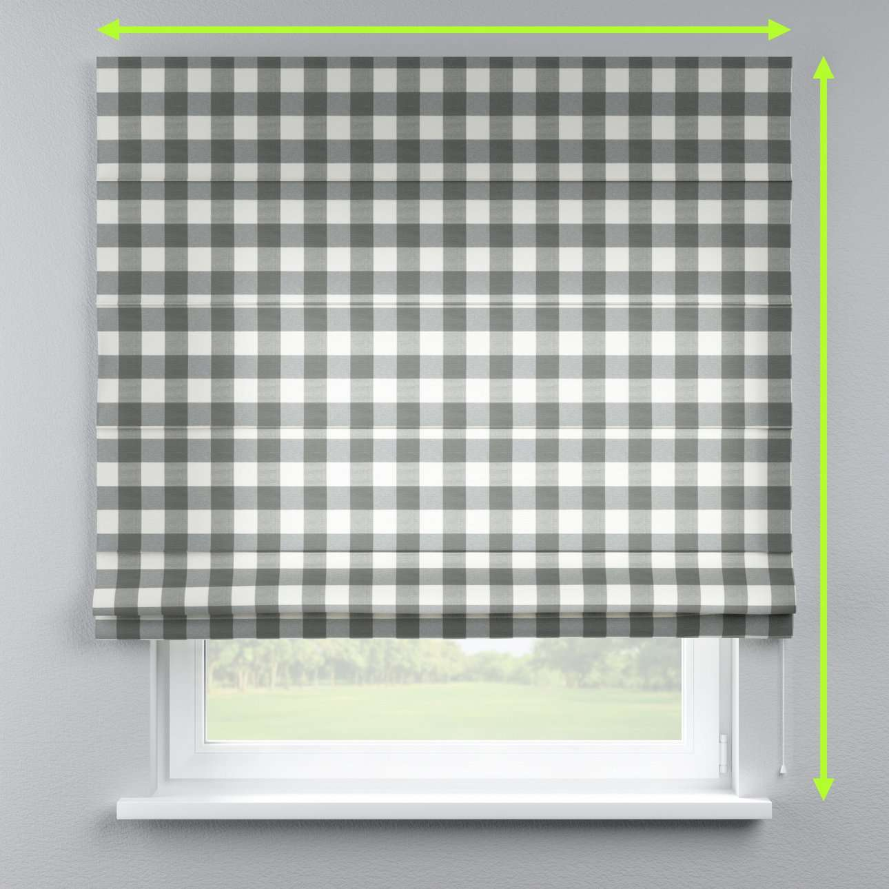 Capri roman blind in collection Quadro, fabric: 136-13