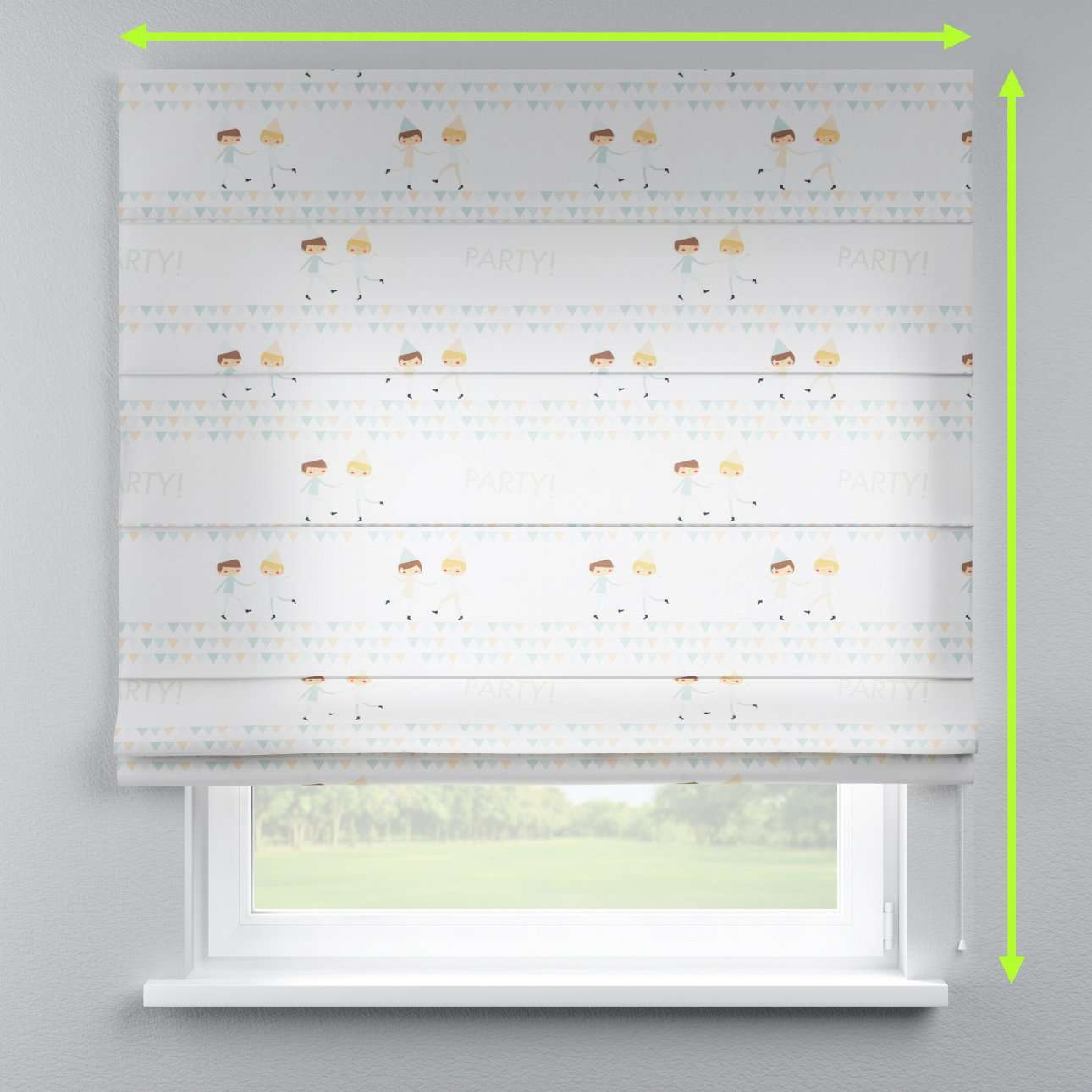 Capri roman blind in collection Little World, fabric: 151-01