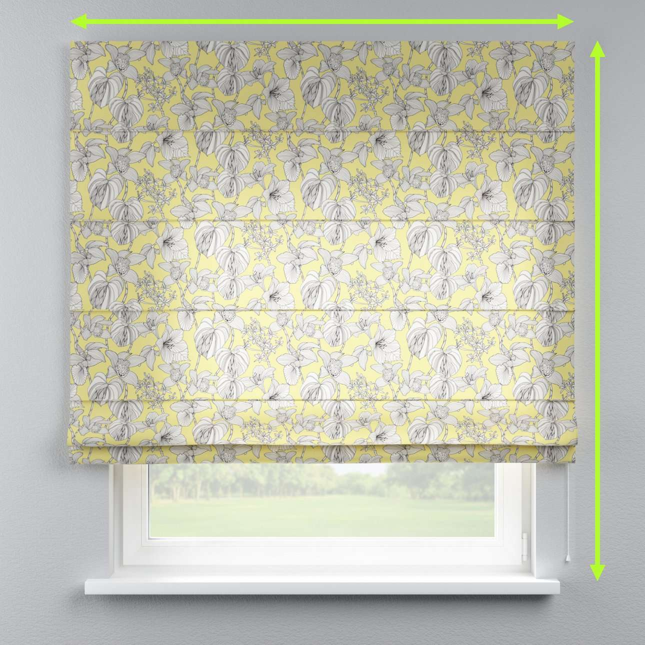 Capri roman blind in collection Brooklyn, fabric: 137-78