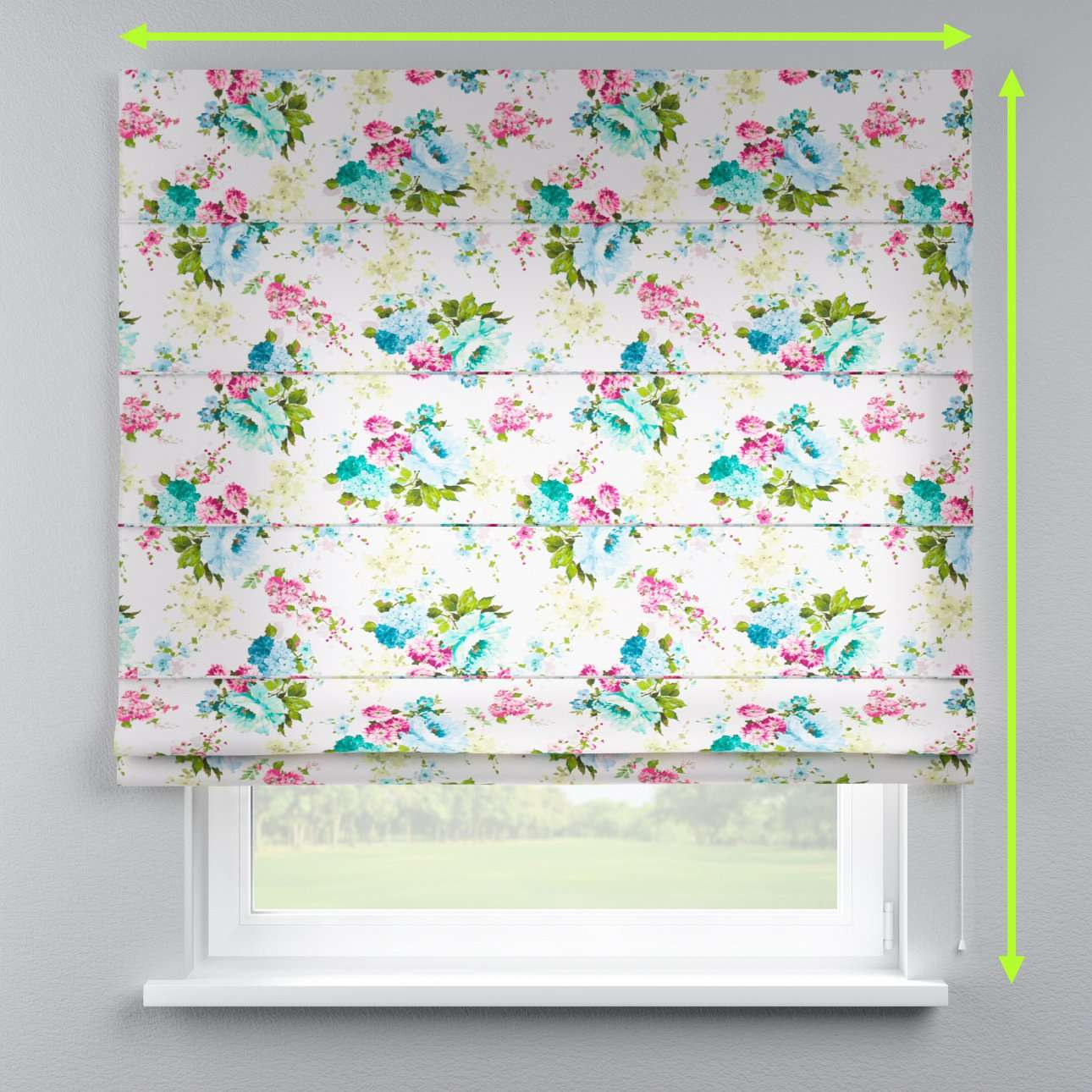 Capri roman blind in collection Monet, fabric: 140-02