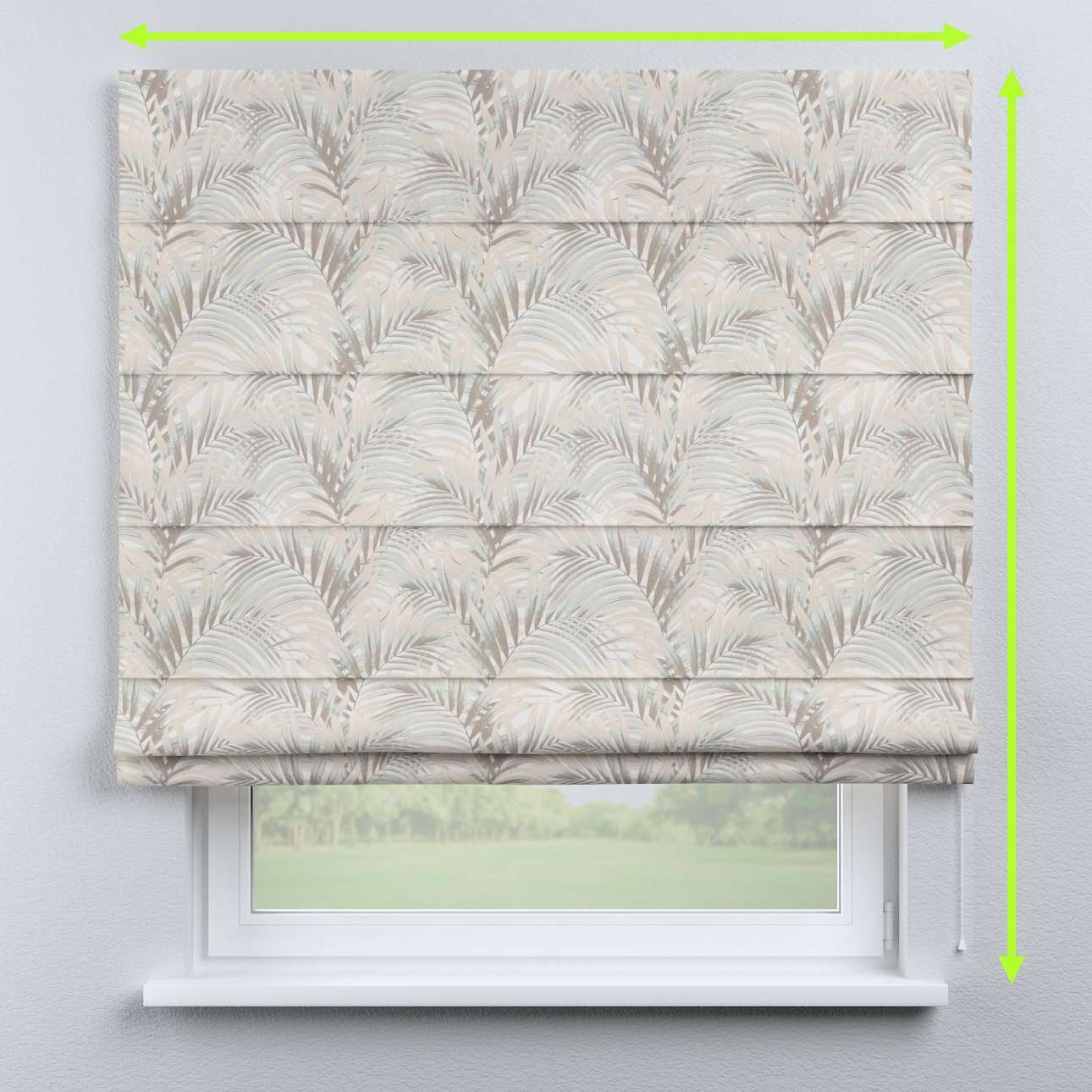 Capri roman blind in collection Gardenia, fabric: 142-14