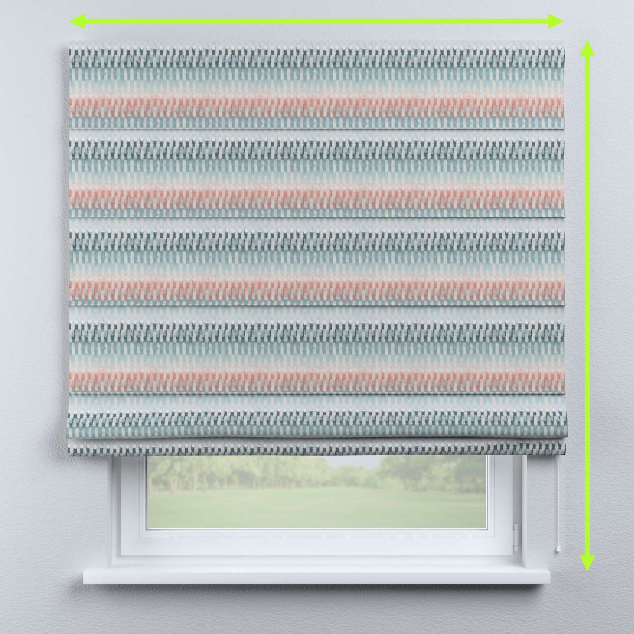 Capri roman blind in collection Pastel Forest, fabric: 142-51