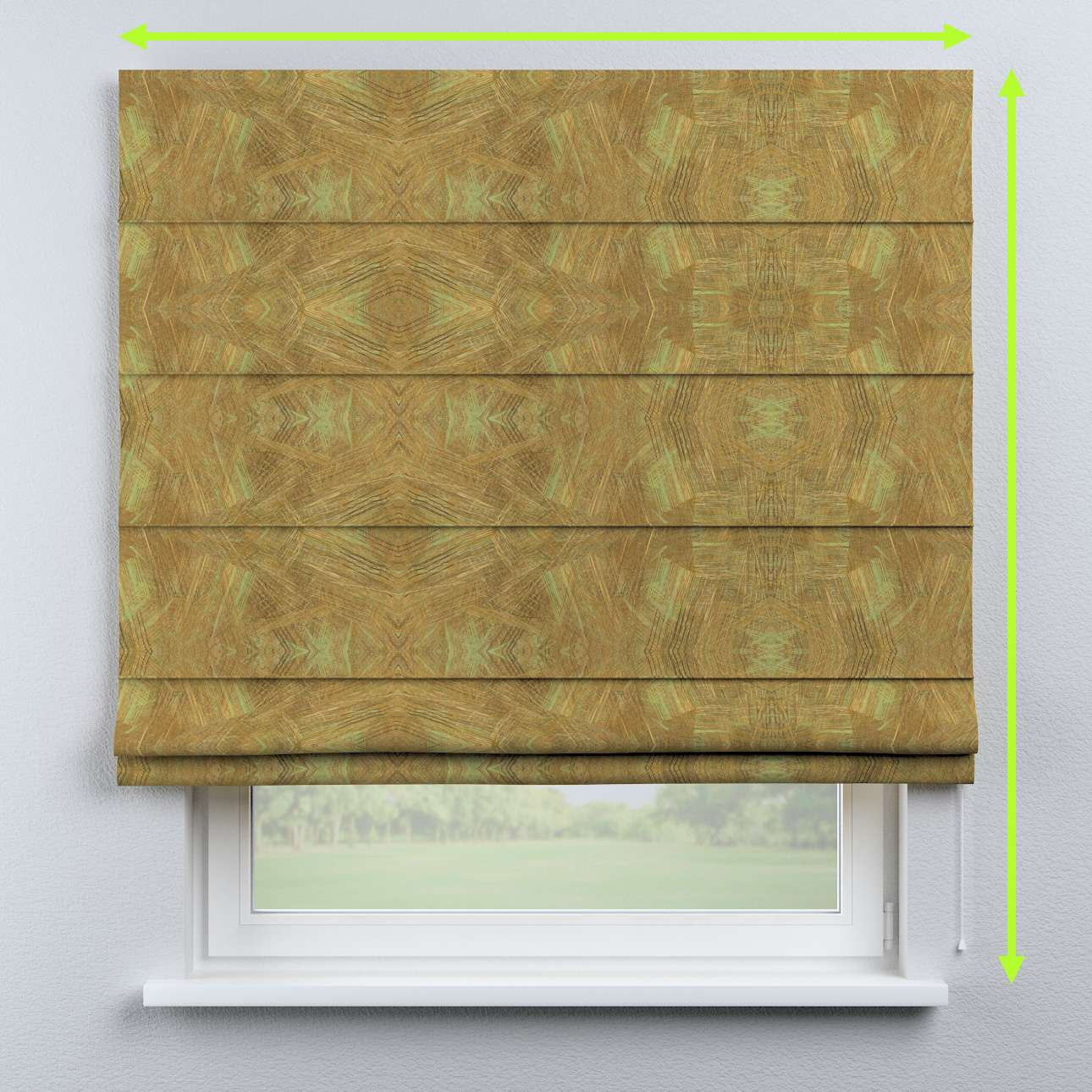 Capri roman blind in collection Tropical Island, fabric: 142-59