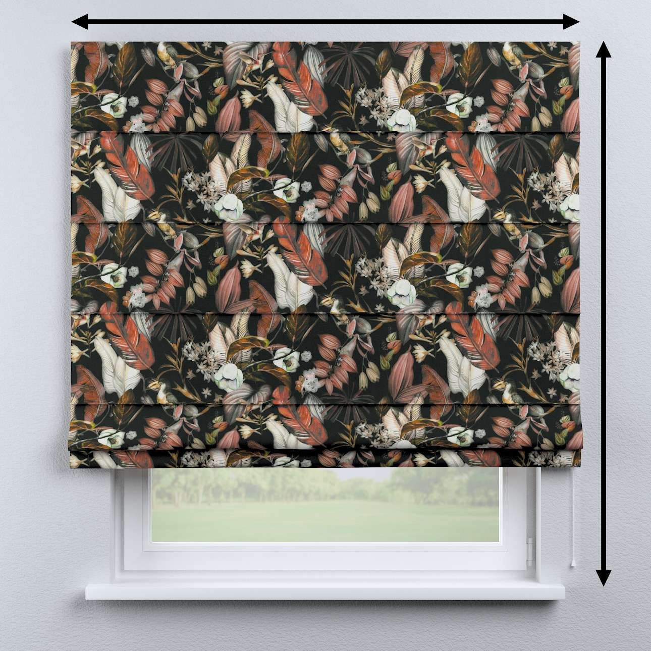 Capri roman blind in collection Abigail, fabric: 143-10
