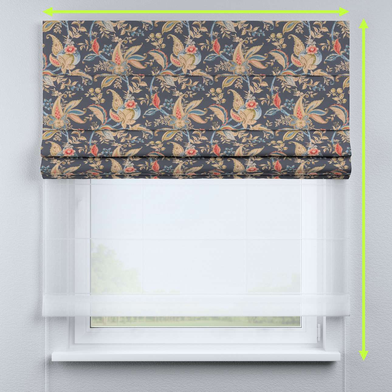 Rímska DUO roleta II V kolekcii Gardenia, tkanina: 142-19