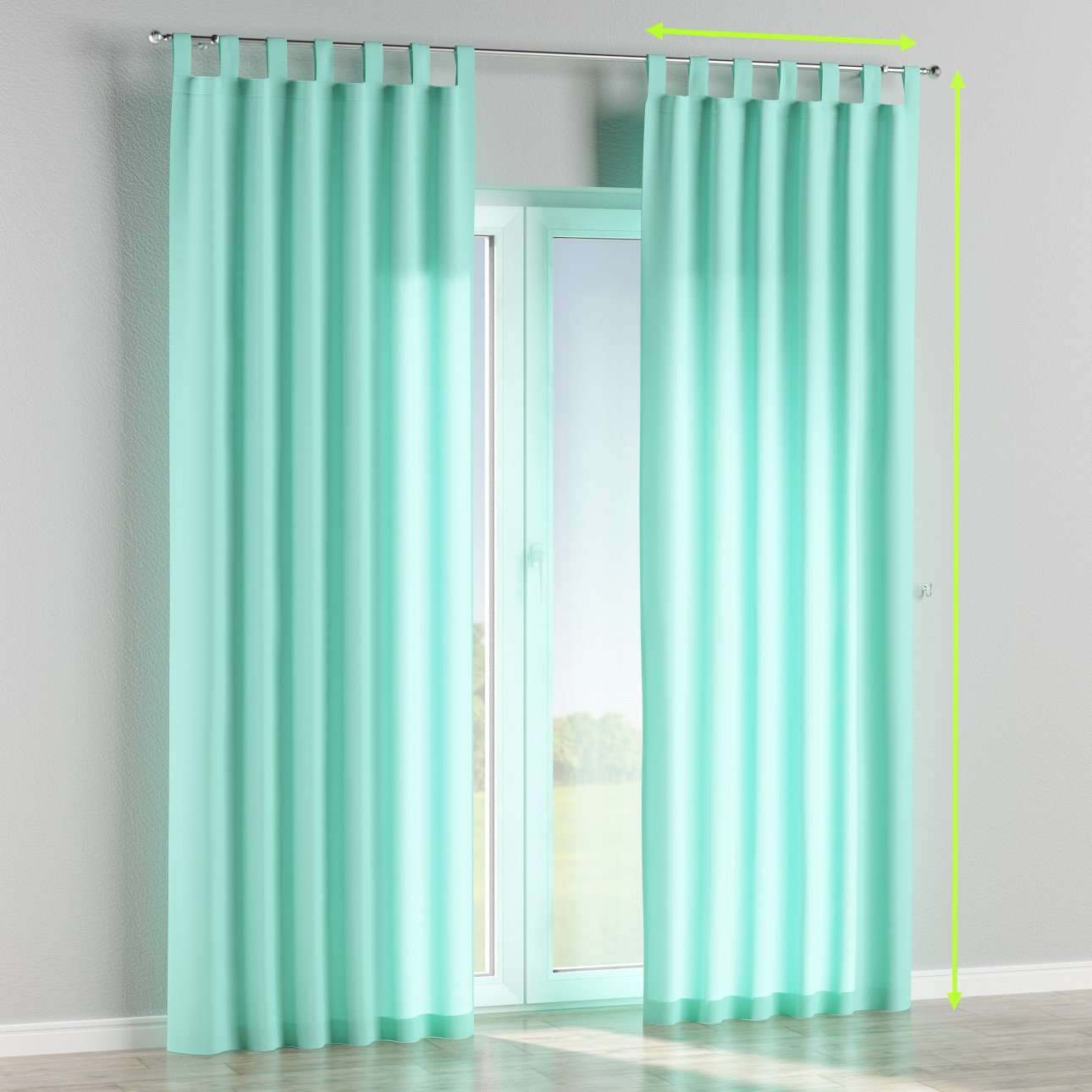Tab top lined curtains in collection Loneta , fabric: 133-32