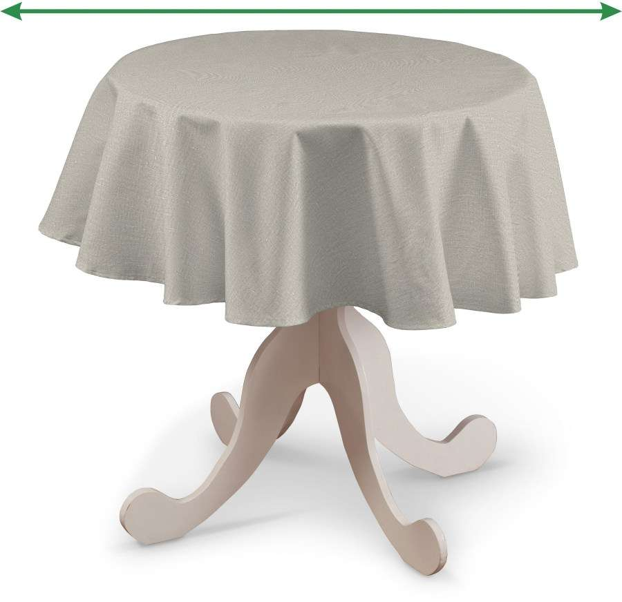 Round tablecloth in collection Linen, fabric: 392-05