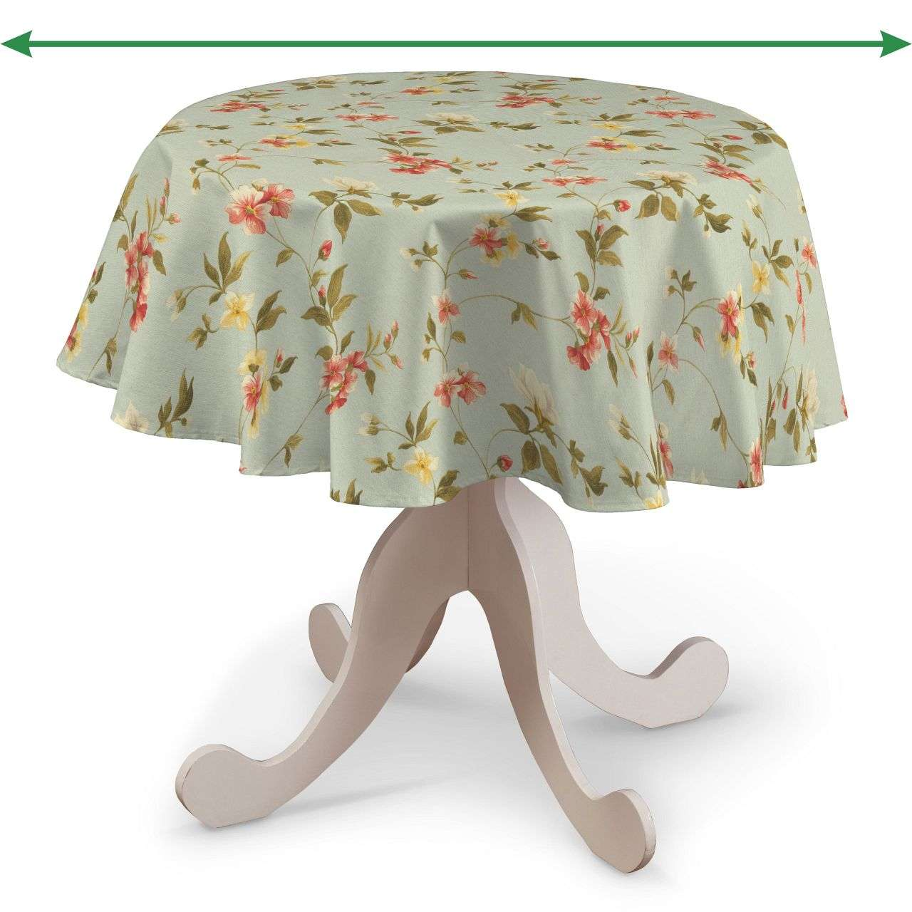 Round tablecloth in collection Londres, fabric: 124-65