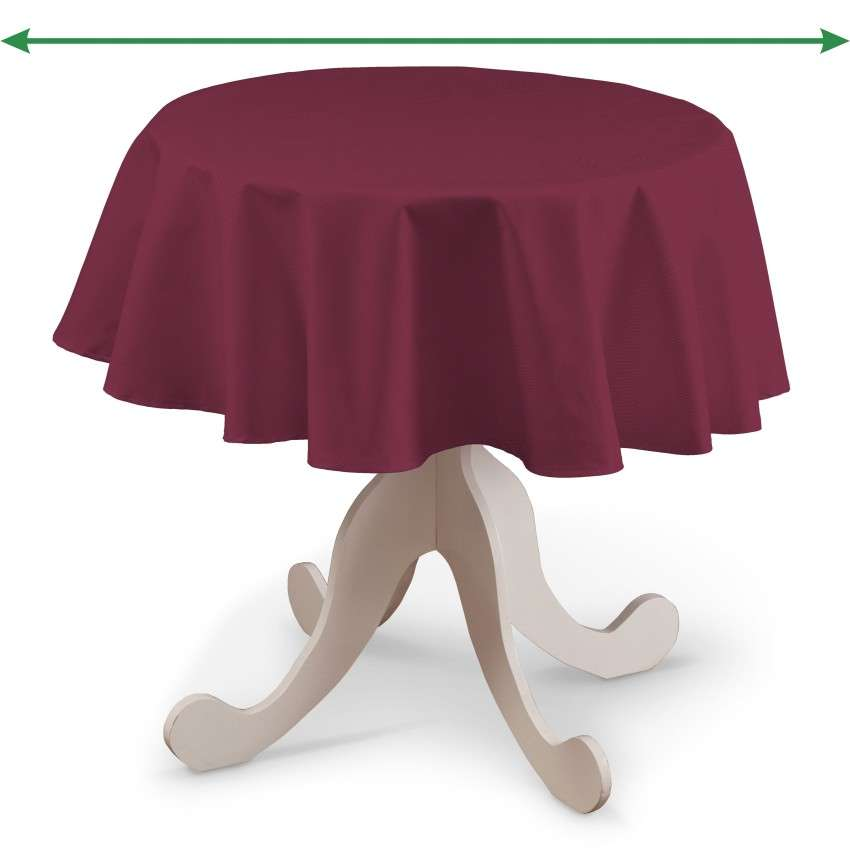 Runde Tischdecke von der Kollektion Cotton Panama, Stoff: 702-32