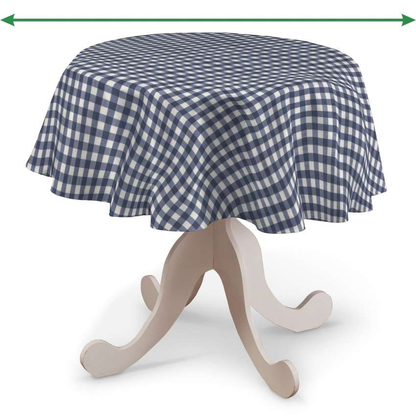 Runde Tischdecke von der Kollektion Quadro, Stoff: 136-01