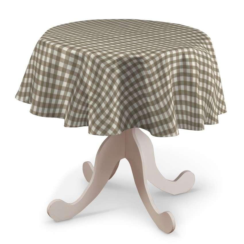 Runde Tischdecke von der Kollektion Quadro, Stoff: 136-06