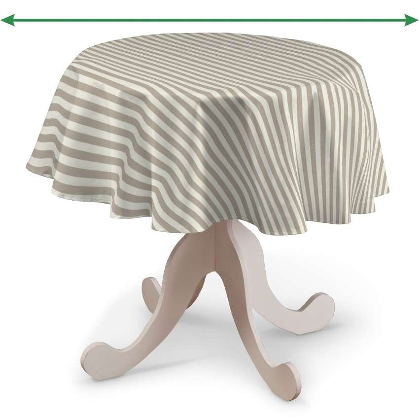 Round tablecloth in collection Quadro, fabric: 136-07