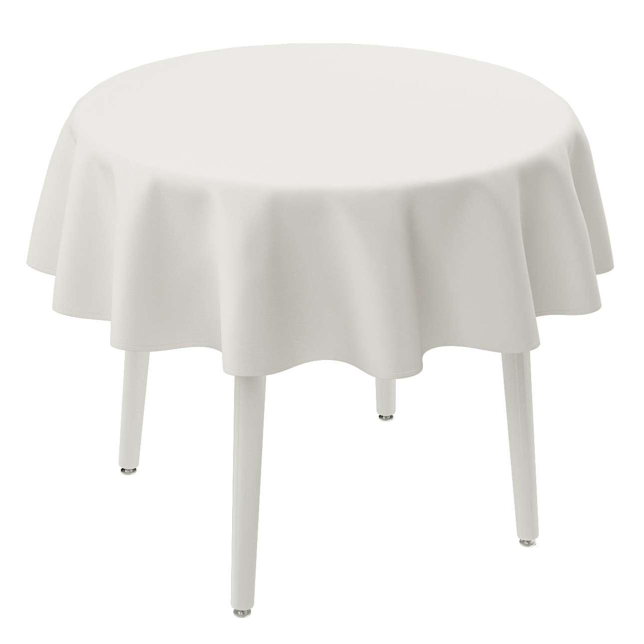 Runde Tischdecke von der Kollektion Cotton Panama, Stoff: 702-34