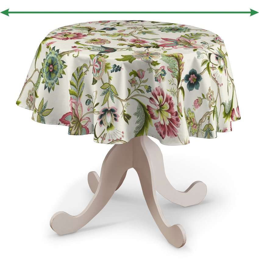 Round tablecloth in collection Londres, fabric: 122-00