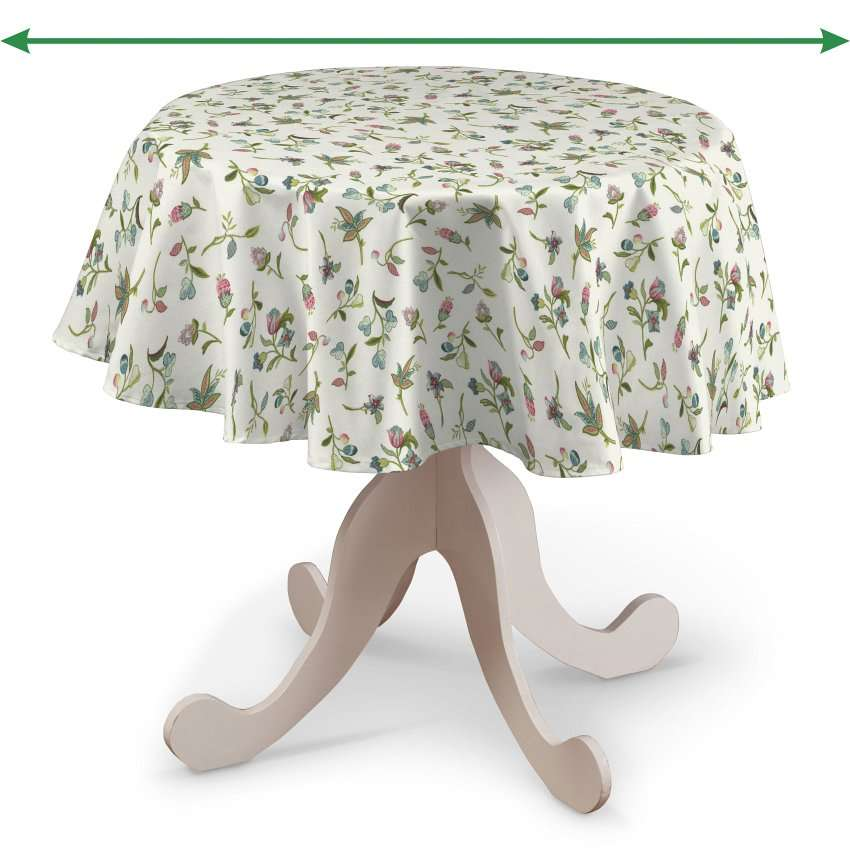 Round tablecloth in collection Londres, fabric: 122-02