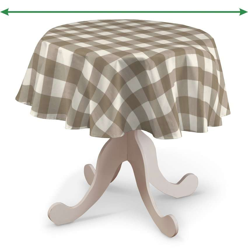 Round tablecloth in collection Quadro, fabric: 136-08