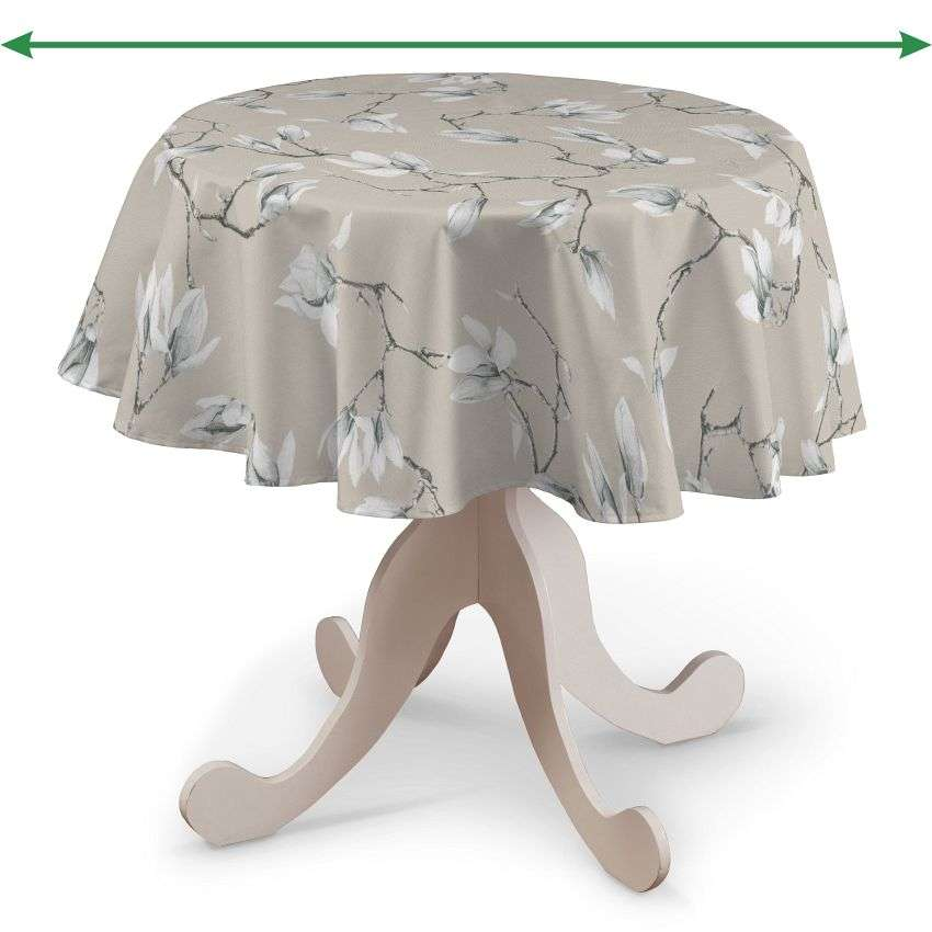 Round tablecloth in collection Flowers, fabric: 311-12