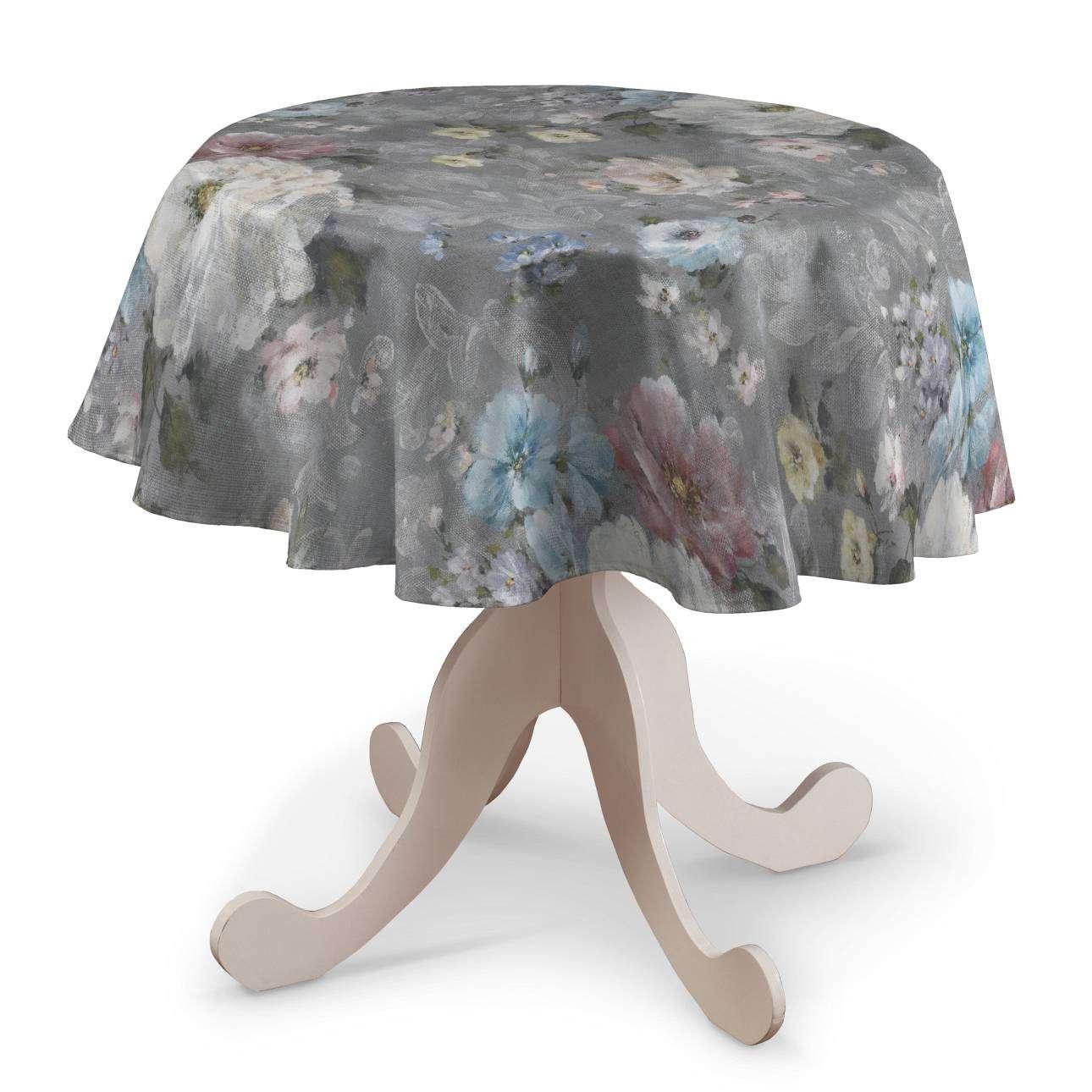 Runde borddug fra kollektionen Monet, Stof: 137-81