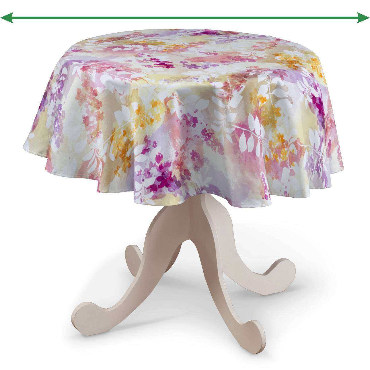 Round tablecloth in collection Monet, fabric: 140-05