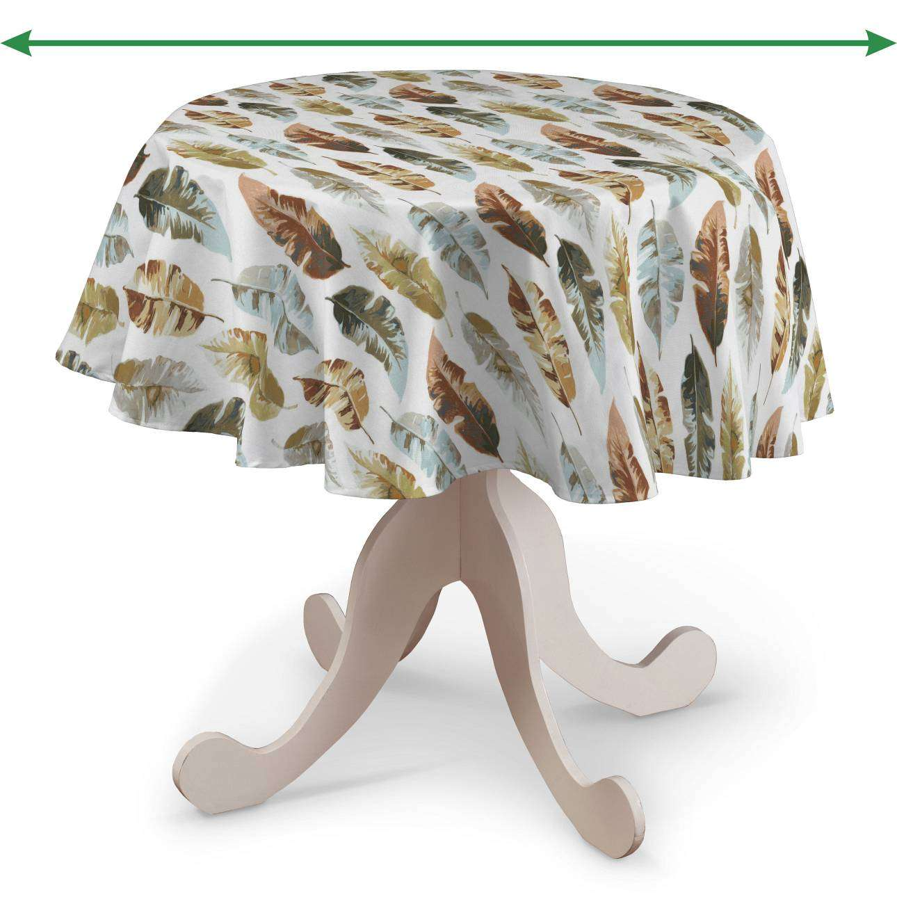 Round tablecloth in collection Tropical Island, fabric: 141-43