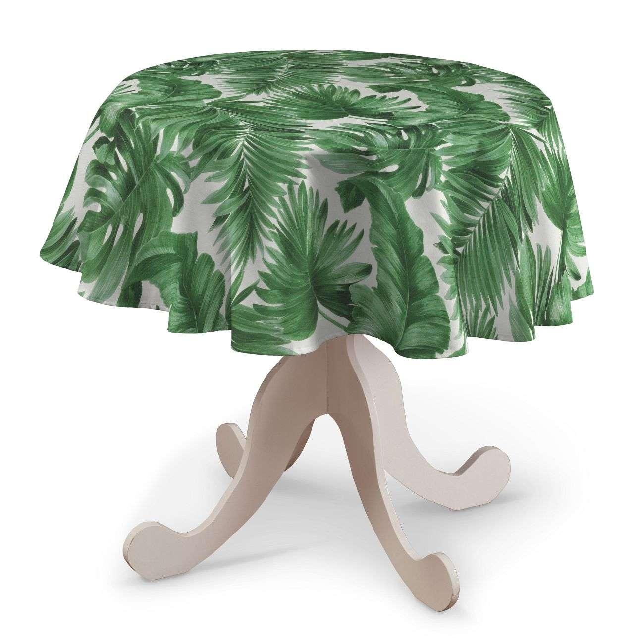 Obrus okrągły w kolekcji Tropical Island, tkanina: 141-71