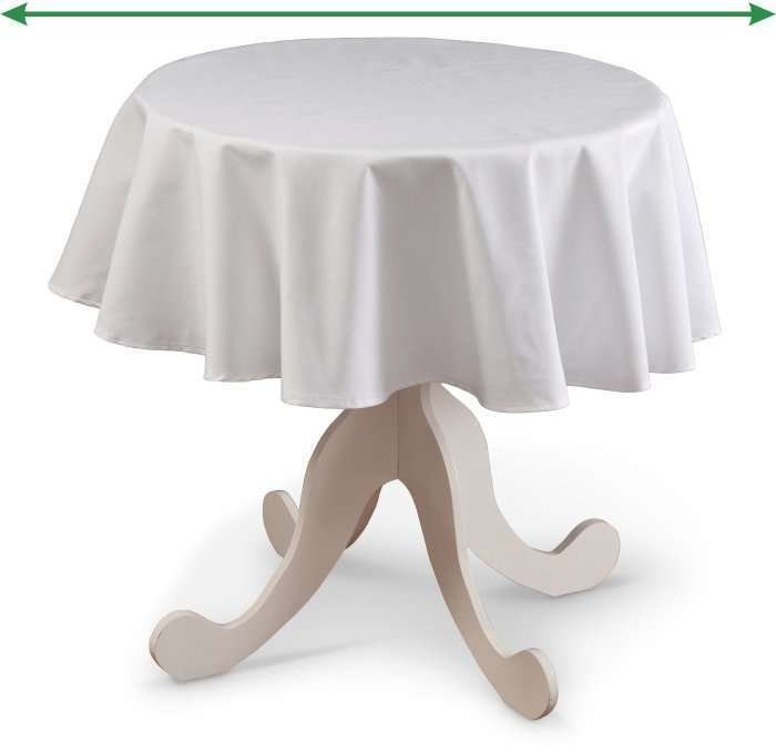 Round tablecloth in collection Damasco, fabric: 141-87