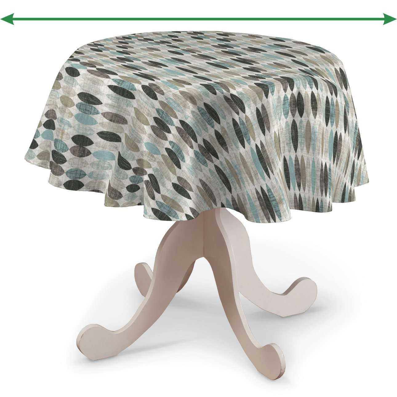 Round tablecloth in collection Modern, fabric: 141-91