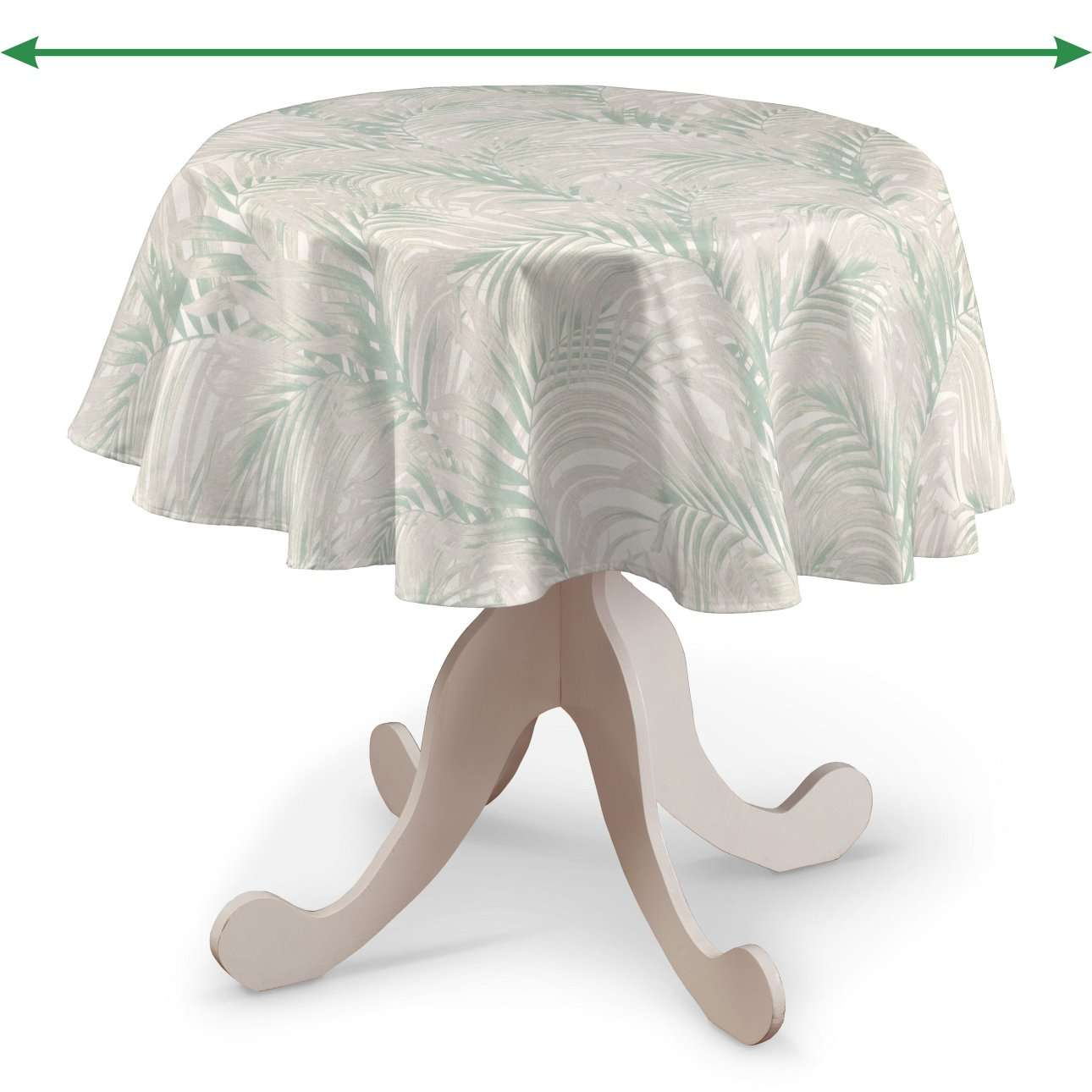 Round tablecloth in collection Gardenia, fabric: 142-15