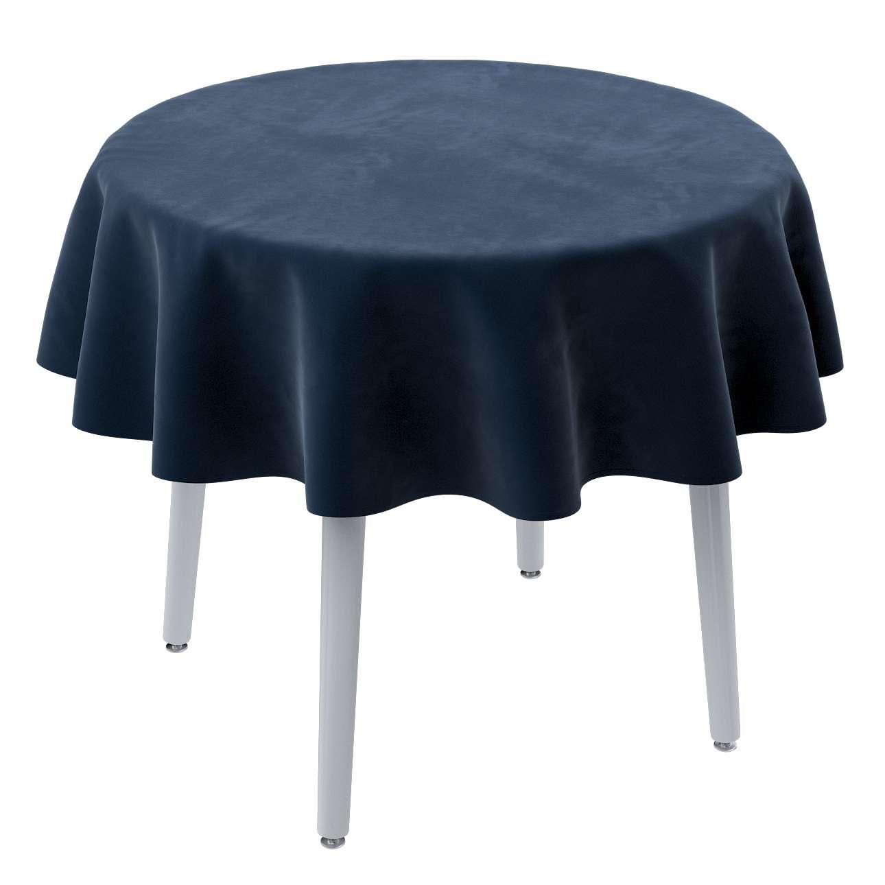 Runde Tischdecke von der Kollektion Velvet, Stoff: 704-29