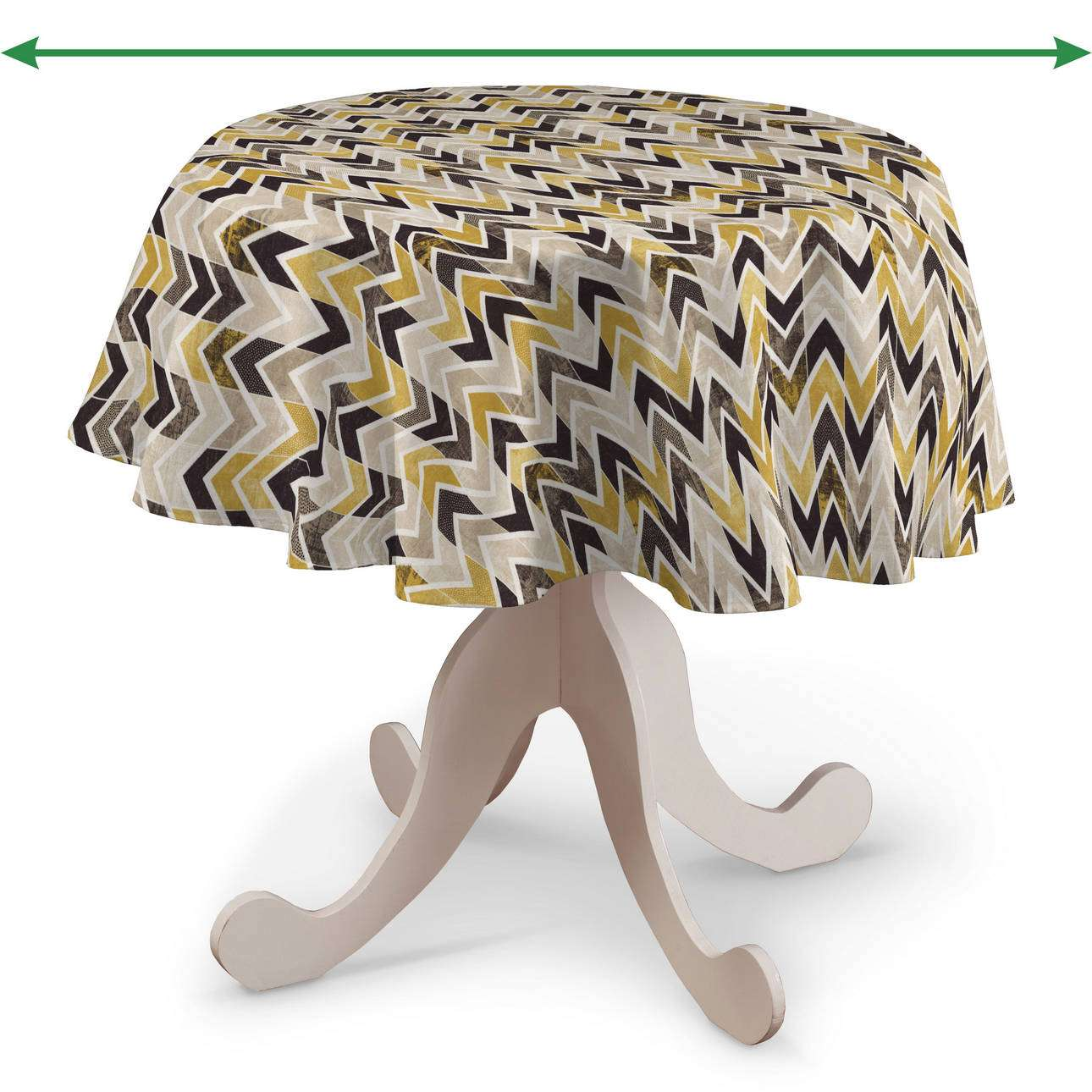 Runde borddug fra kollektionen Modern, Stof: 142-79