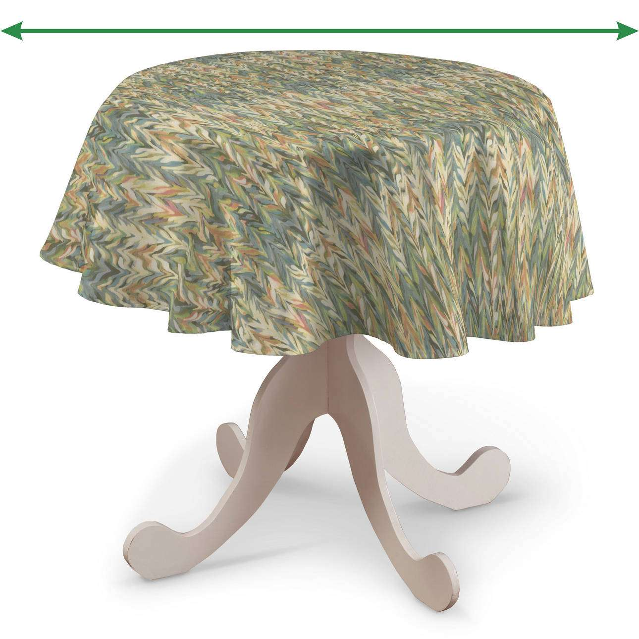 Round tablecloth in collection Tropical Island, fabric: 142-67