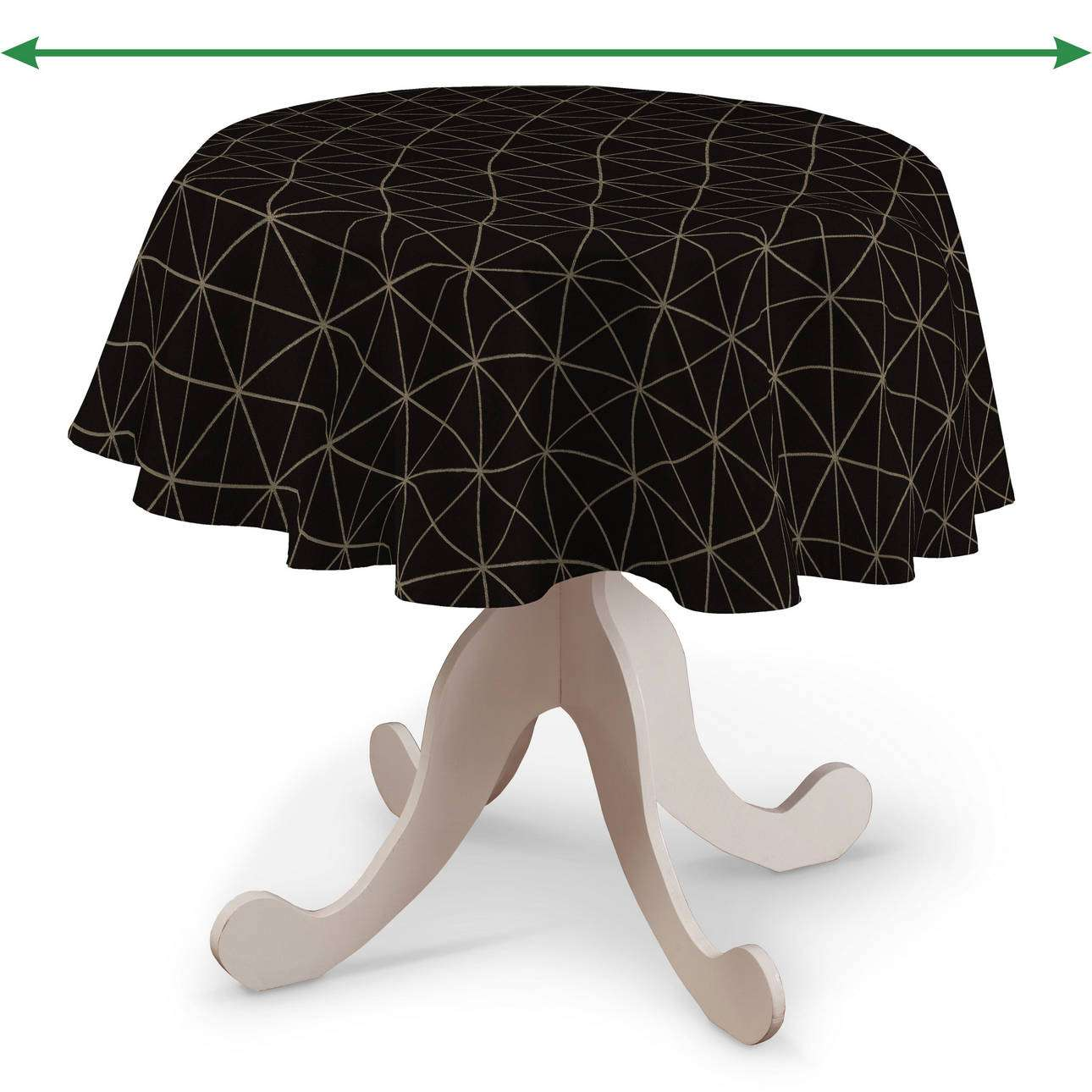 Round tablecloth in collection Black & White, fabric: 142-55