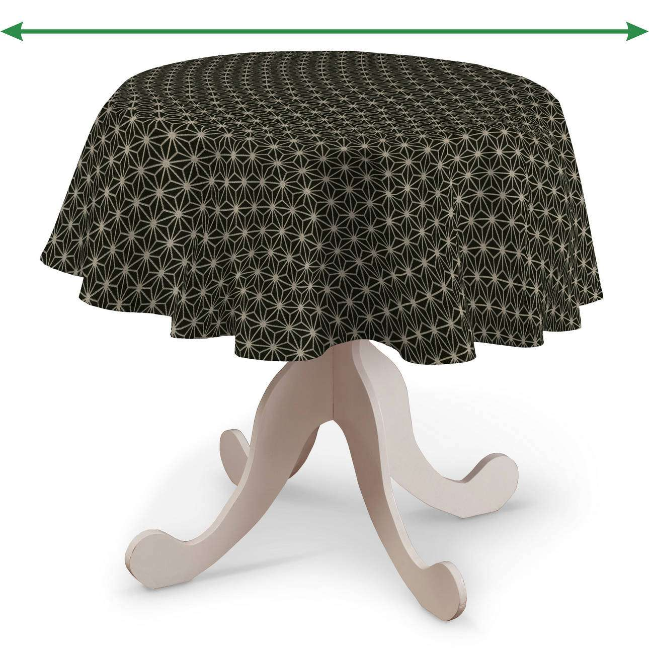 Round tablecloth in collection Black & White, fabric: 142-56