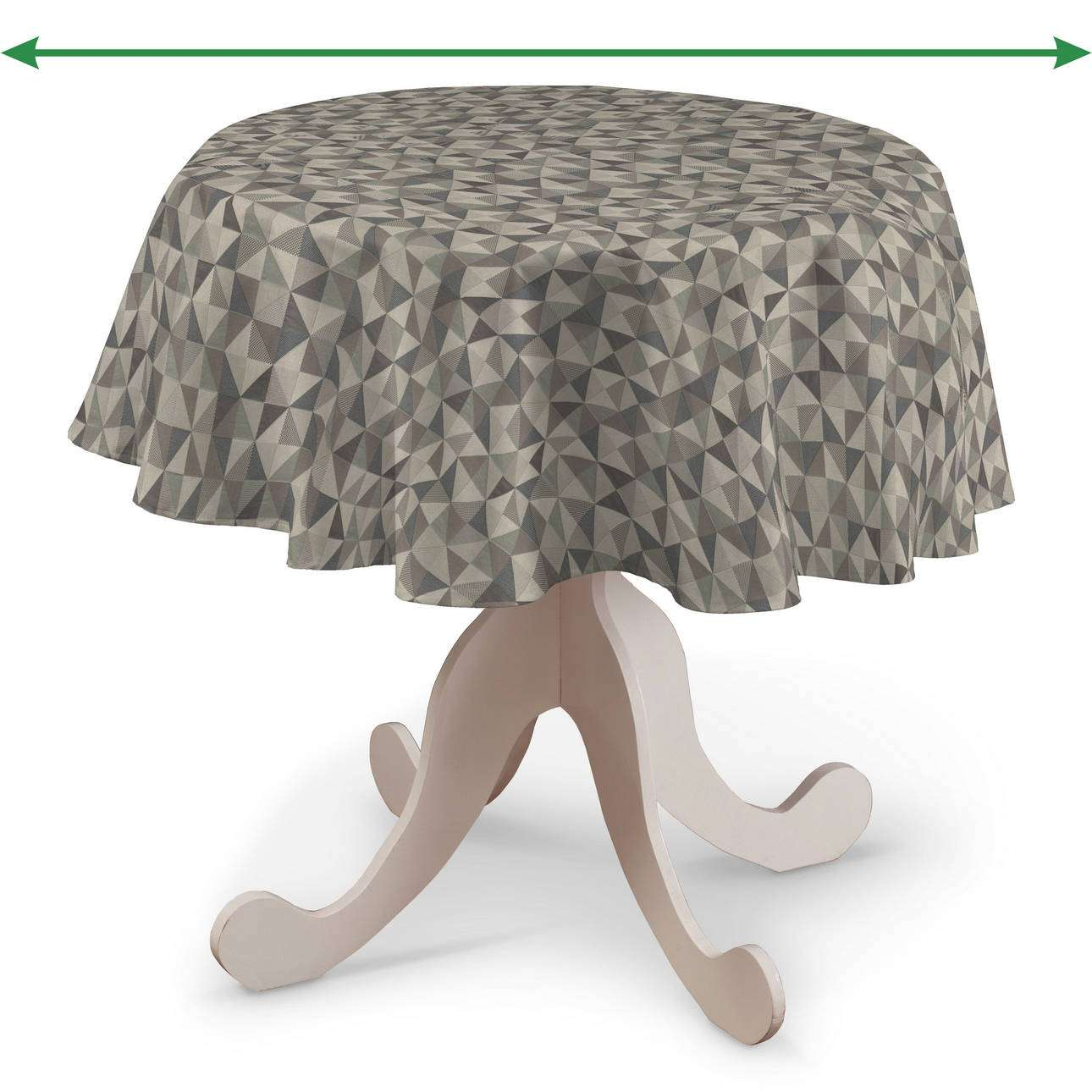 Round tablecloth in collection Retro Glam, fabric: 142-84