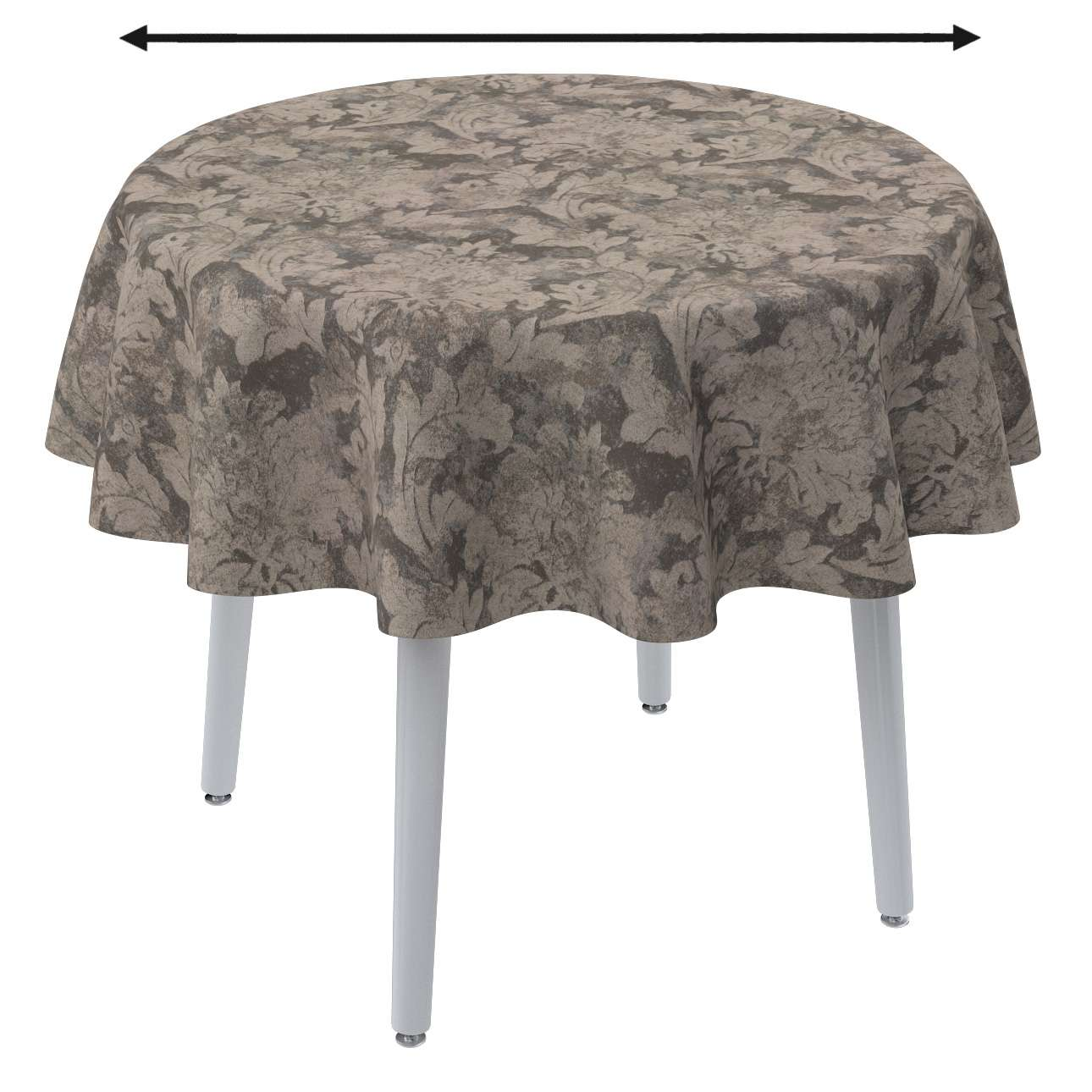 Round tablecloth in collection Retro Glam, fabric: 142-88