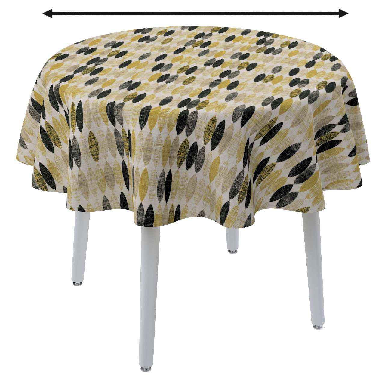 Round tablecloth in collection Modern, fabric: 142-99