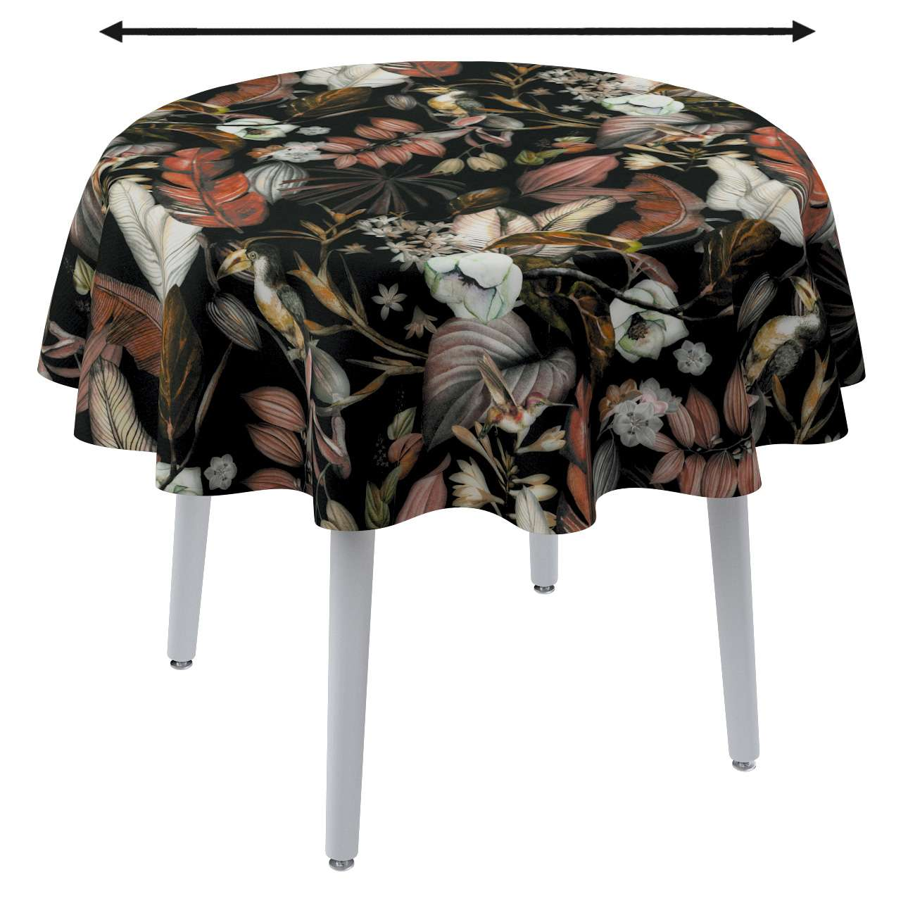Runde borddug fra kollektionen Abigail, Stof: 143-10