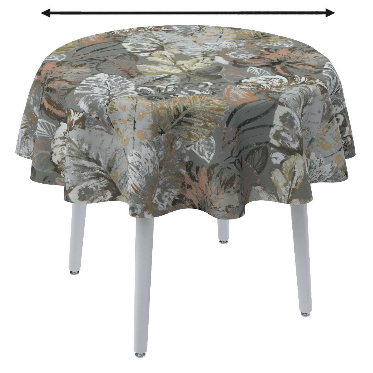Runde borddug fra kollektionen Abigail, Stof: 143-19