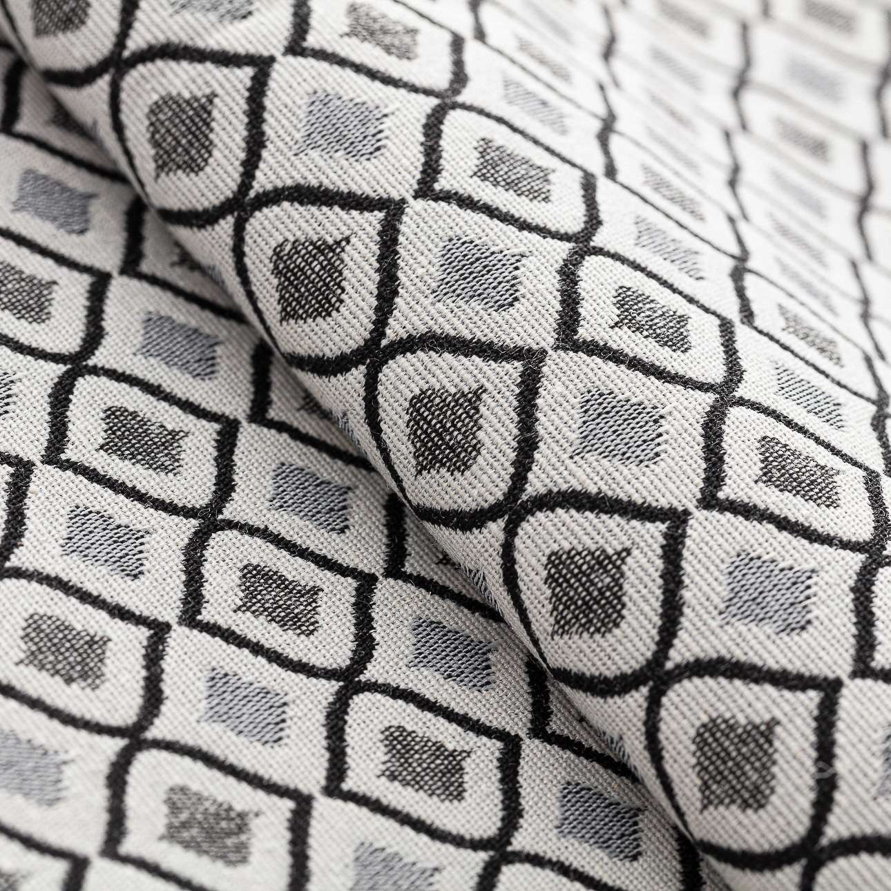 Úchyt Victoria, 1ks V kolekcii Black & White, tkanina: 142-76