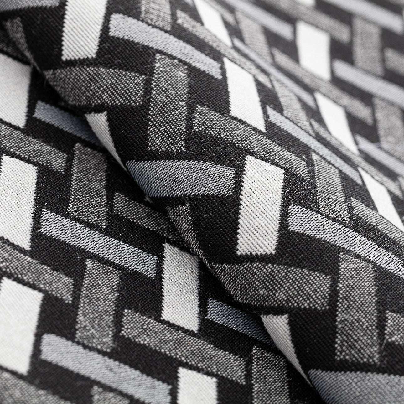 Siedzisko Jacek na krzesło w kolekcji Black & White, tkanina: 142-87