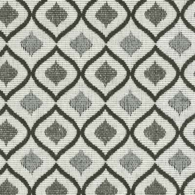 Podnóżek do fotela w kolekcji Black & White, tkanina: 142-76