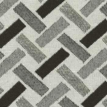 Fotel dwukolorowy Unique w kolekcji Black & White, tkanina: 142-78
