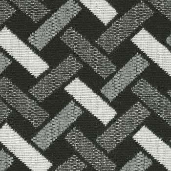 Raffrollo Verona von der Kollektion Black & White, Stoff: 142-87
