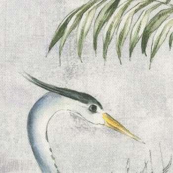Nakkepude med folder fra kollektionen Tropical Island, Stof: 142-58