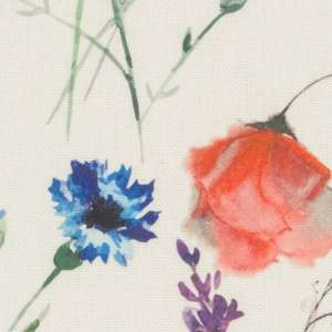 Zasłona na taśmie marszczącej 1 szt. 1szt 130x260 cm w kolekcji Flowers, tkanina: 141-53