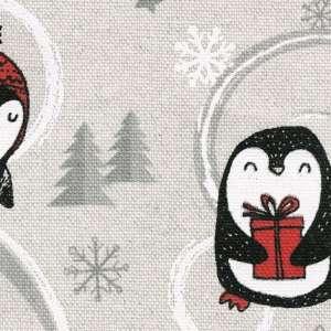 Zasłona na taśmie marszczącej 1 szt. 1szt 130x260 cm w kolekcji Christmas, tkanina: 629-33