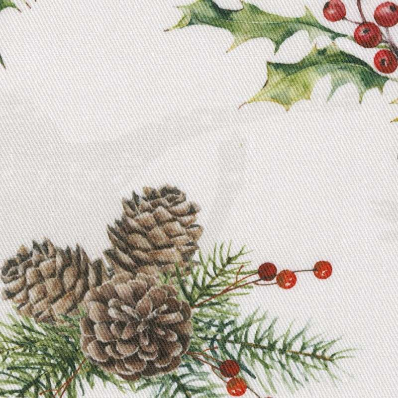 Stuhlkissen Peter mit Bindeschnur 41x 38 x 3,5 cm von der Kollektion Christmas, Stoff: 629-35